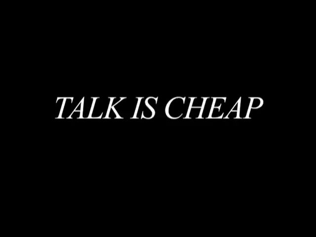 Crucial Cult 'Talk is Cheap' Free Public Premiere